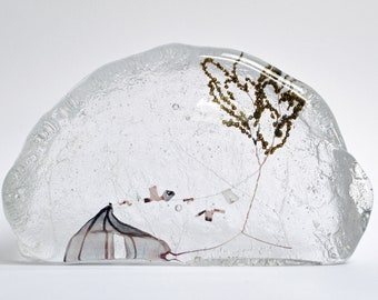 Blustery teepee : cast glass and wire artwork