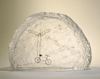 Bike ride.  Miniature Glass Wonderland