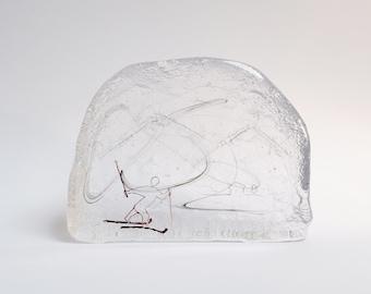 Skier,  Miniature Glass Wonderland. REDUCED PRICE!