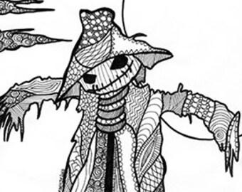 Last minute kawaii doodle halloween disegno da colorare etsy - Pagina da colorare per halloween ...