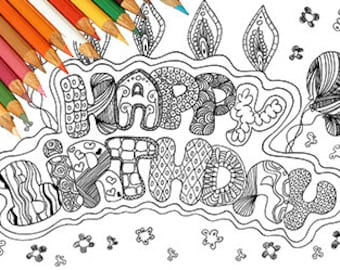 Happy Birthday Kleurplaten Verjaardag Volwassenen.Kleurplaten Van Afdrukbare Ticket Verjaardag Taart Zoet