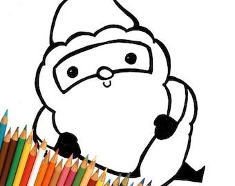 Coloring Page Coloring Kawaii Doodle Kawaii Print Download Etsy