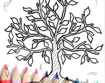 Donna Da Colorare Stampabile Zentangle Fantasy Da Colorare Etsy