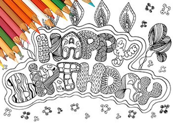 Feliz cumpleaños feliz cumpleaños para imprimir para colorear