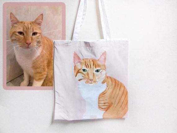 Custom Portrait Bag Free Time Cat Birthday