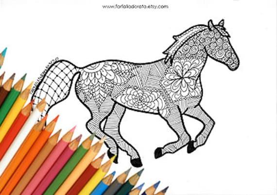 Descargas de caballo para colorear páginas para Imprimir   Etsy