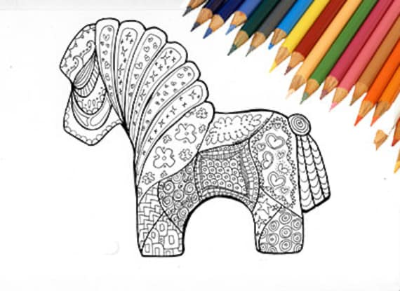 - Horse Coloring Page Coloring Page Printable Coloring Etsy