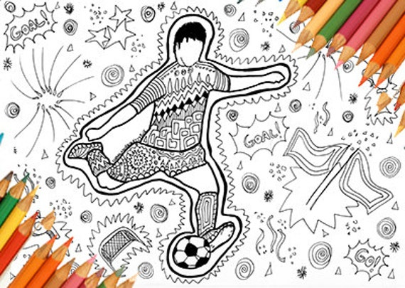 Football coloring page footballer coloring page coloring