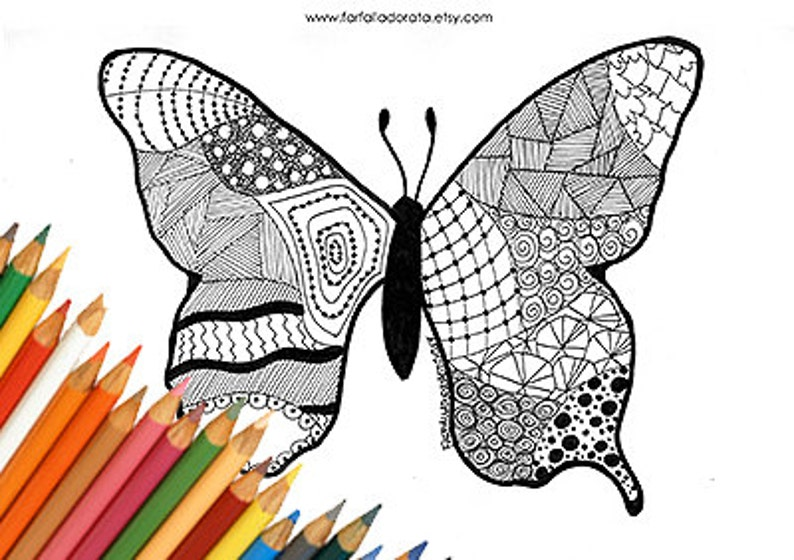 Kleurplaten Vlinder Maskers.Afdrukbare Kleurplaten Vlinder Downloads Pagina Voor Het Etsy