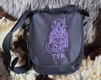 Tyr Bag, Tyr Man bag, Tyr Purse, Tyr Crossbody Bag, Shoulder Bag, god, Norse god, Viking god, Viking Bag