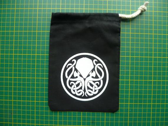 Hammer Black /& glow-in-the-dark Dice Bag
