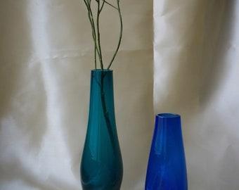 Set of blue vases