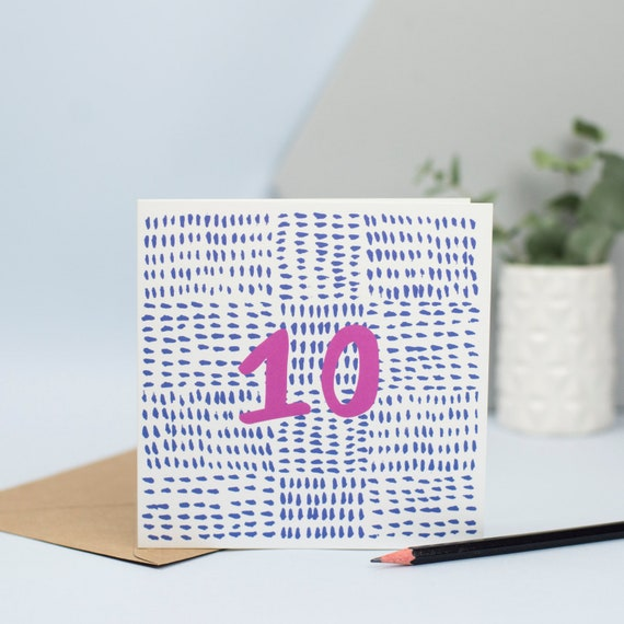 10th Birthday Card For 10 Year Old Double Figures