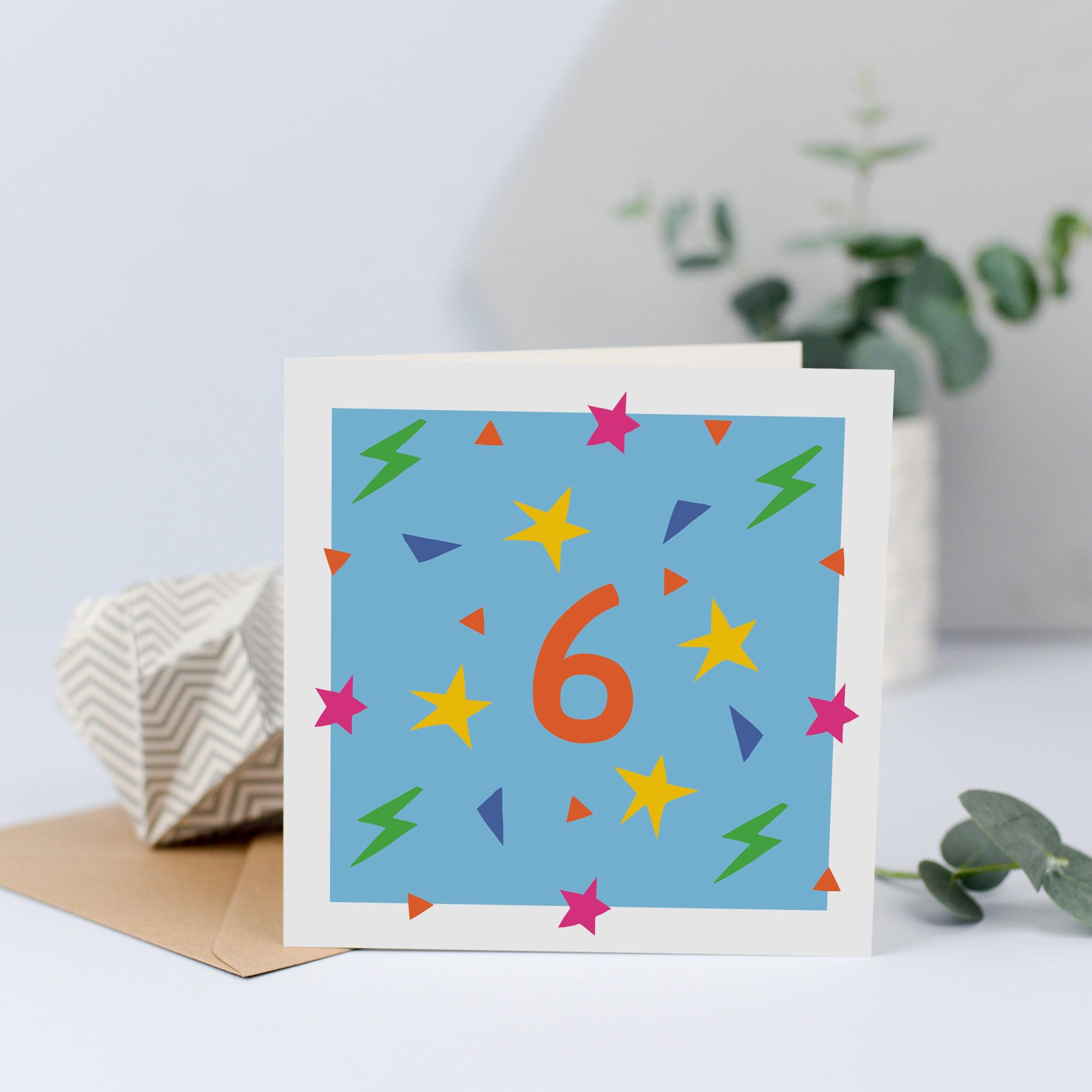 6th Birthday Card Sixth 6 Years Old Age