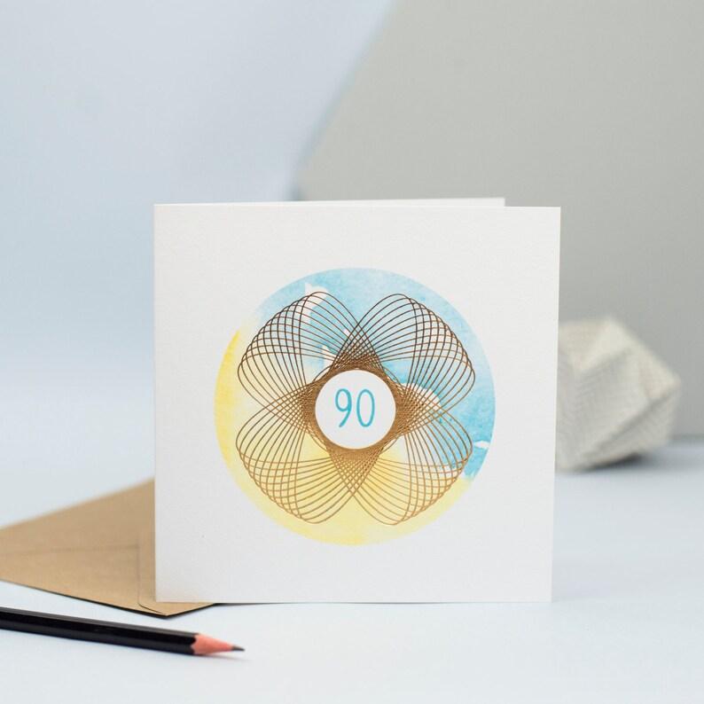 90th Birthday Card 90 Year Old Milestone