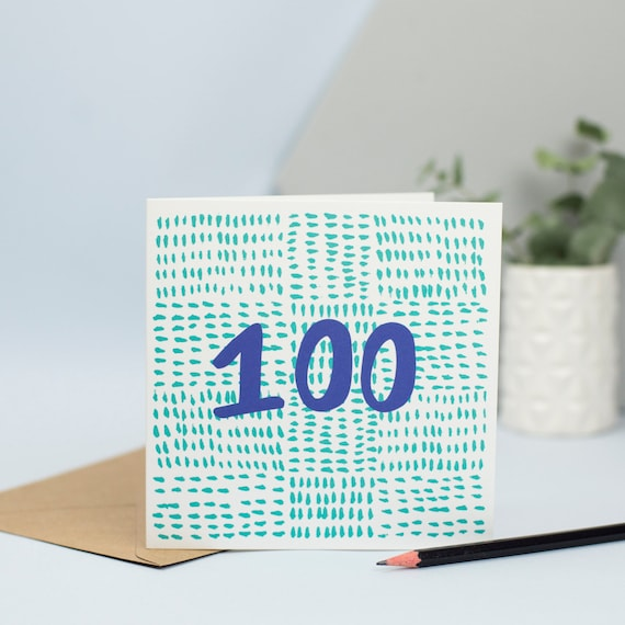 100th Birthday Card 100 Years Old Centenarian Colourful