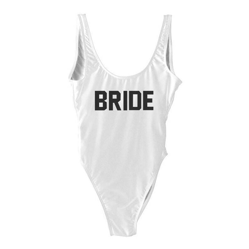 6e9dac5701858 Bride Swim suit. Bride Bathing Suit. Bridal Swim. Bride Swim. | Etsy