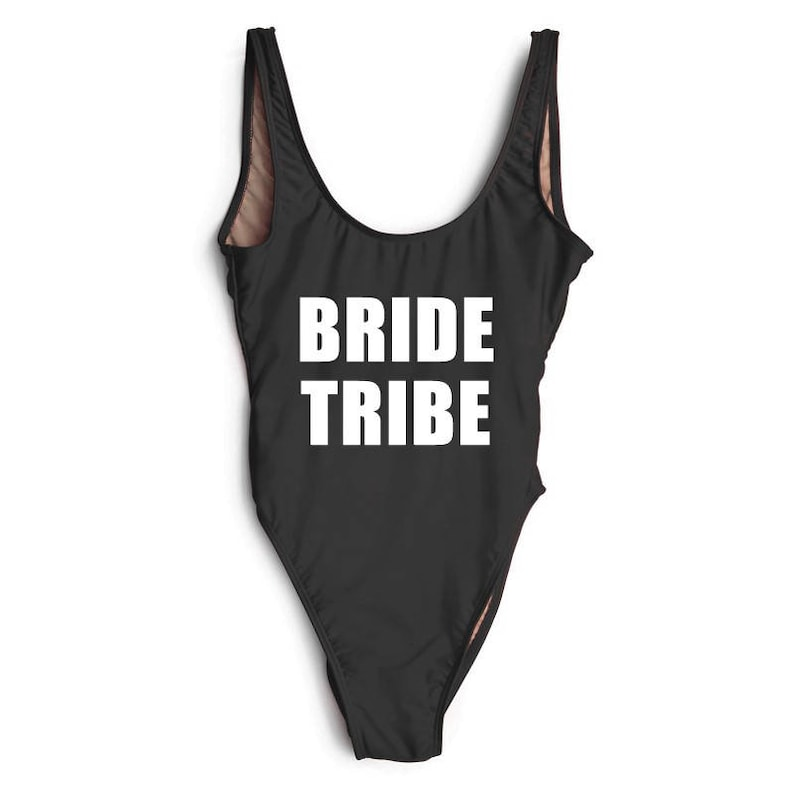 cd8bf366abe6d Bride Tribe Swimsuit. Bachelorette Bathing Suit. Bride Squad Swimwear.  Bride Bathing Suit. Bride Swim. One Piece Swimsuit.