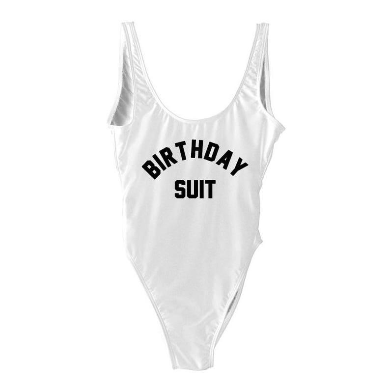 b34e714904059 Birthday Suit Swim. Beach Bathing Suit. One Piece Swim. One