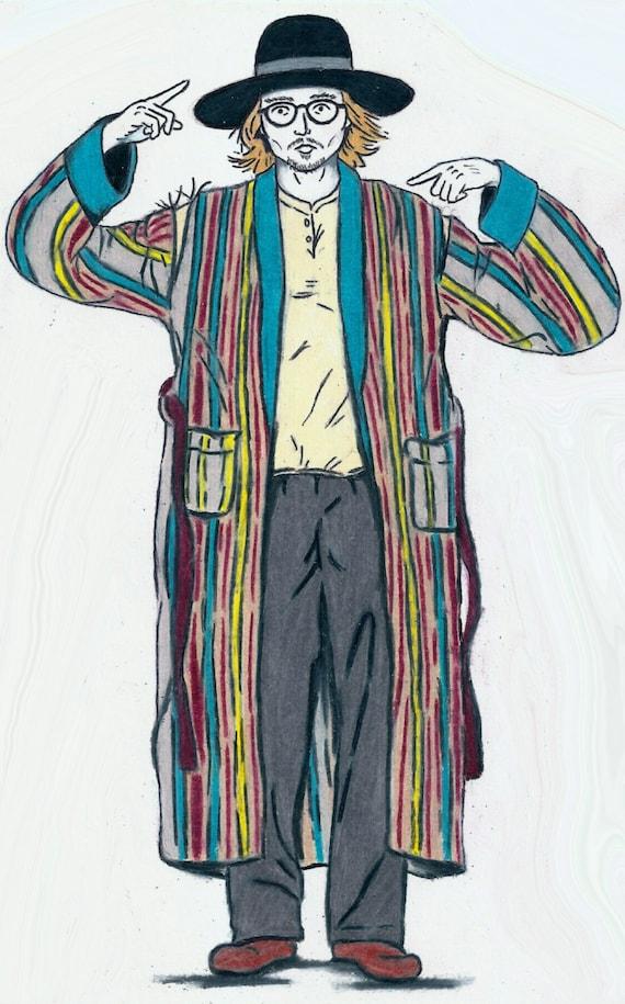 Secret Window Mort Rainey Johnny Depp Character Print Etsy