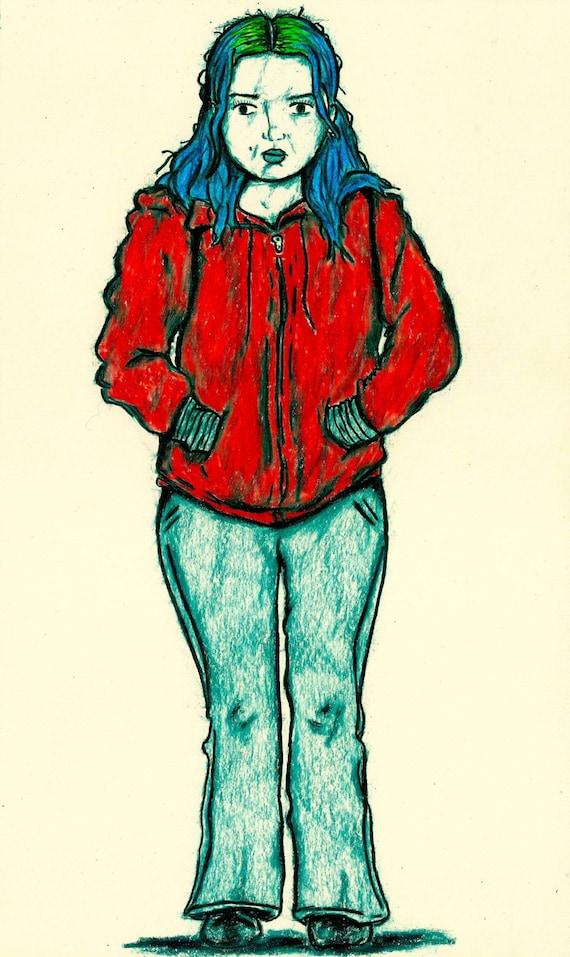 Clementine Kruczynski Movie Character Print Eternal Sunshine Of The Spotless Mind Kate Winslet Wall Art Tattoo Art Print