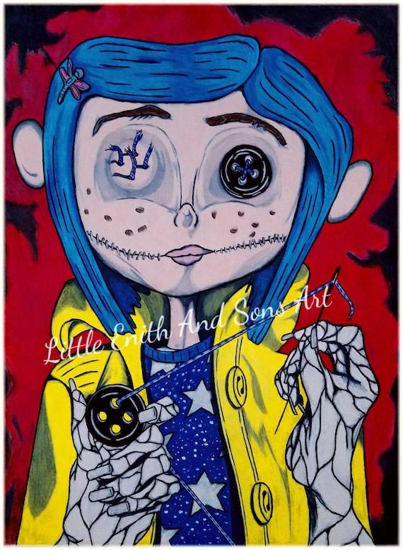 Little Me Coraline Movie Character Art Print Art For Etsy