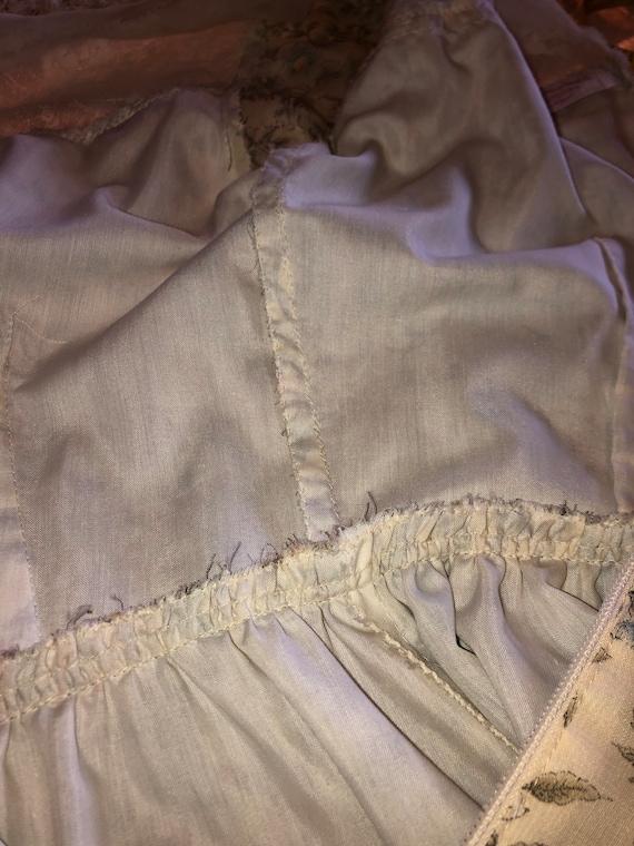 Vintage 70s Prairie Dress - Handmade Floral and L… - image 6