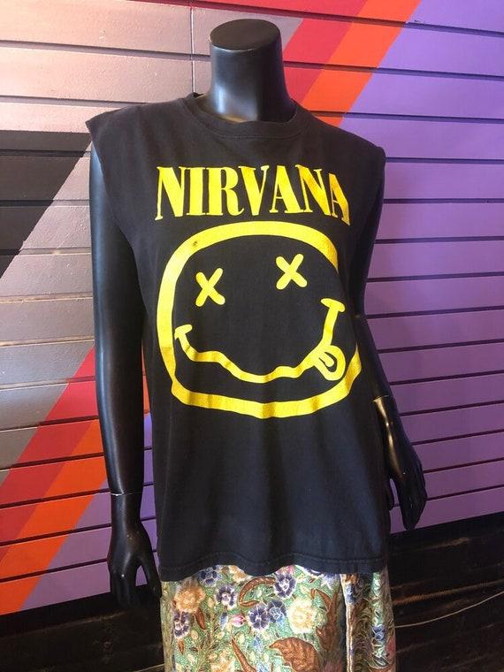 Vintage Nirvana Smiley Face T-Shirt