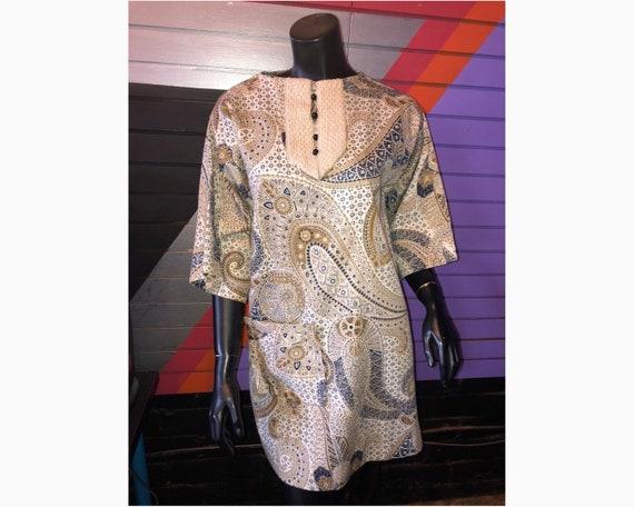 Vintage Paisley Tunic Dress