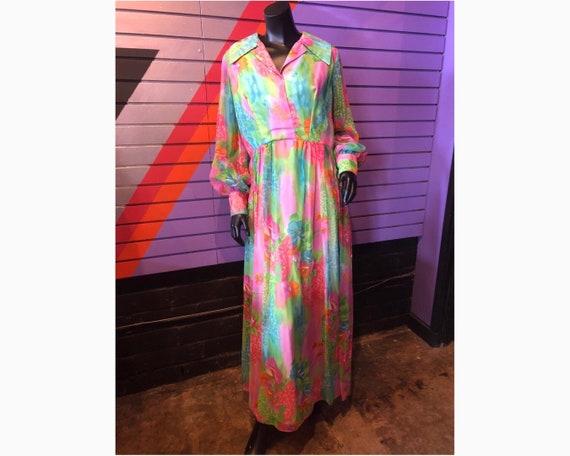 70s Sheer Floral Dress