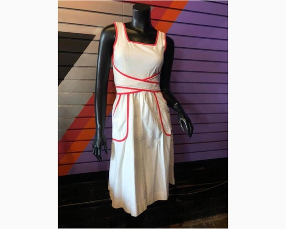 50s Vintage Handmade Wrap Around Dress