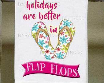 d69c6645f17ed6 Flip Flops Kitchen TowelDon tmake me slap you with