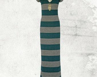 PDF Sewing Pattern Sylvia Stretch Maxi Dress - D1501 Sizes 8-18