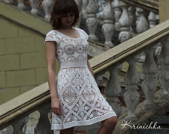 Crochet dress pattern chart and basic instructions in etsy crochet dress pattern chart and basic instructions in english crochet dress diagram chart rows are not interpreted in words krinichka ccuart Image collections
