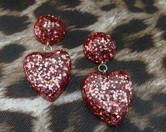 Sweet Nothings Heart earrings in Rose