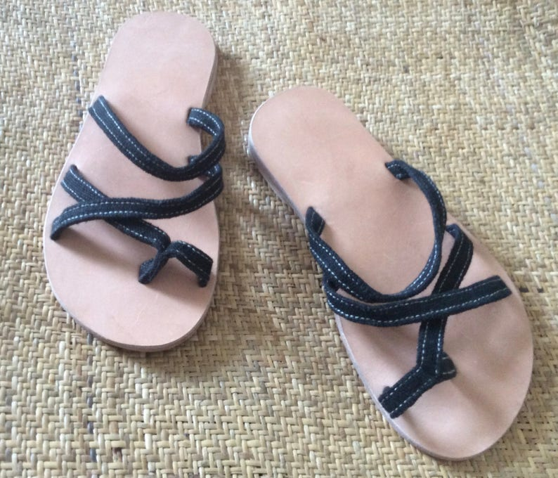 Hemp Strappy Sandals