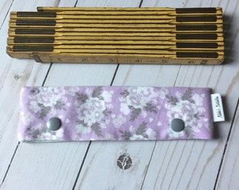 Lavender Floral Needle Cozy-Various Sizes