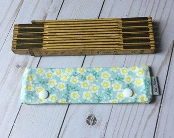 Aqua Lime Floral Needle Cozy-Various Sizes