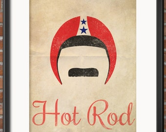Hot Rod Minimalist Movie Poster with Quote 5 Printable Files, 16x20, 12x16, 11x14, 8x10, 5x7 Retro Poster Digital DOWNLOAD