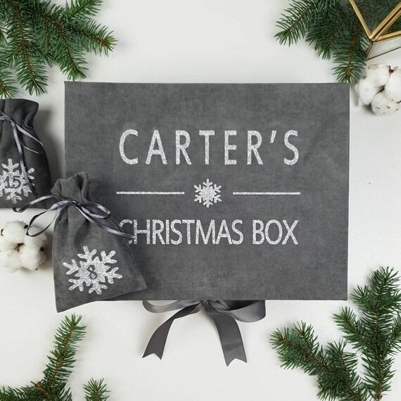 Christmas countdown calendar 2 IN 1 Personalized Christmas Box with Christmas advent calendar bags set advent calendar kids