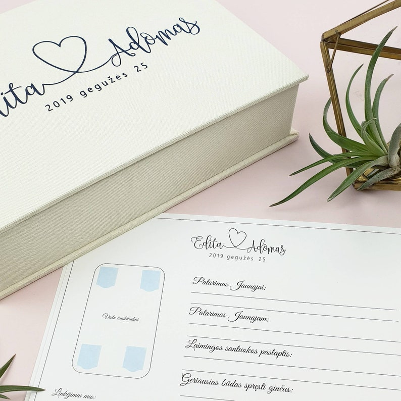 Instax Wedding guest book alternative Personalized Wedding box with guest advice cards Wedding mad libs in box Wedding Mad Libs Cards