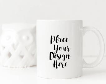 white mug mock up white coffee mockup rustic cup template etsy
