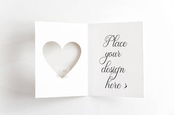 Greeting Card Mockup Invitation Mock Up Valentines Mockup Etsy