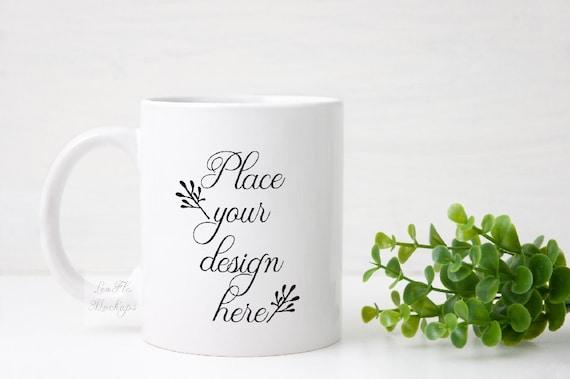 Coffee Cup Template | Mug Mock Up Coffee Cup Mockups Mockup Mugs Cup Template Etsy