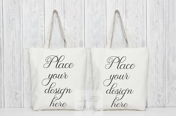 Psd Mockup Tote Bag Tote Bag Mock Up Bag Template Two Blank Etsy