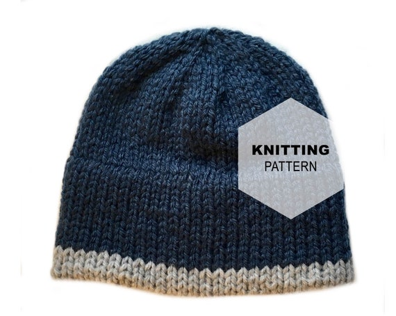 Knitting Pattern Double Brim Hat   DELUXE Hat  007537cb66b