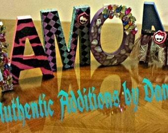 Monster High Themed Letters