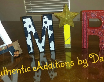 Mickey Mouse Cowboy Letters