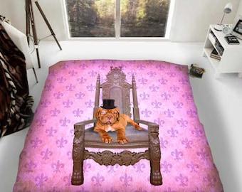 Dogue De Bordeaux On the Moon Luxury Fleece Blanket Throw Dog Lovers Gift