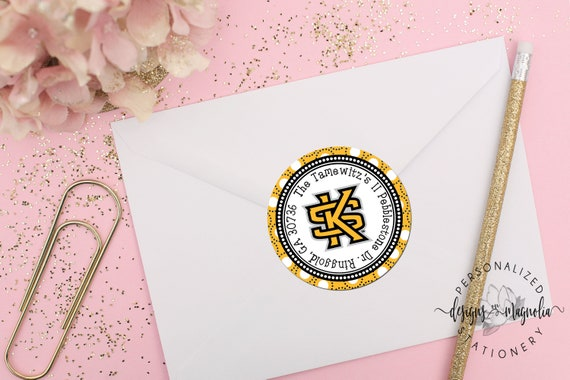 kennesaw state university address labels gift tags ksu etsy
